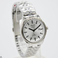 Alexandre Christie 100% Original AC8402L Jam Tangan Wanita Stainless Steel silver putih