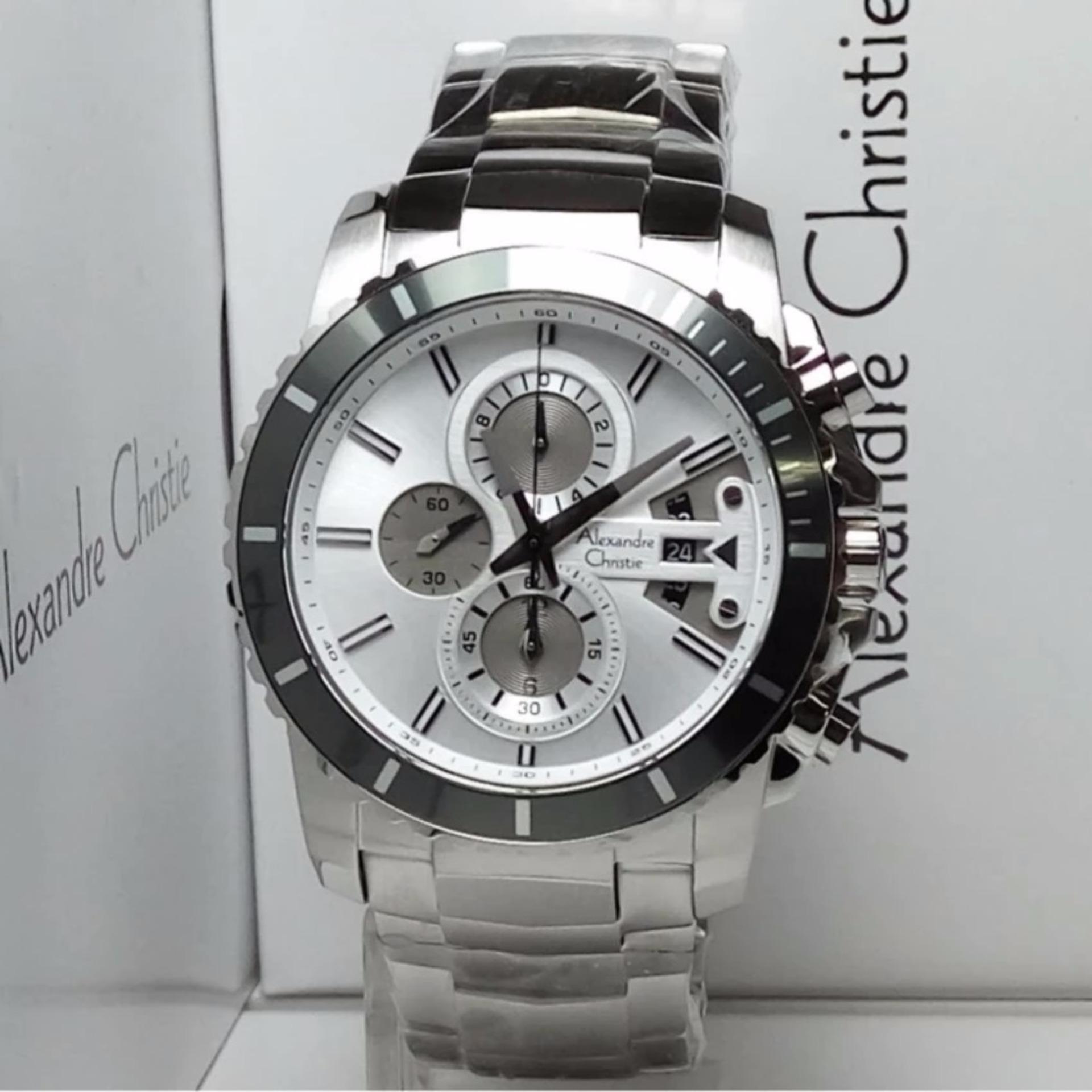 Penjualan Alexandre Christie 6455 MC Silver - Jam Tangan Pria terbaik murah - Hanya Rp1.313.850