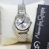 Alexandre Christie 8501 Jam Tangan Wanita Ac 8501 Silver White Stainless Steel Anti Air Alexandre Christie Murah Di Indonesia