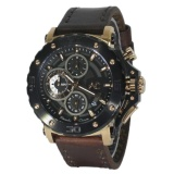Review Pada Alexandre Christie 9205Mc Hitam Gold Tali Kulit Coklat