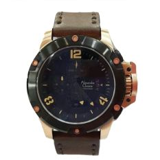Harga Alexandre Christie Ac 6295 Jam Tangan Pria Leather Strap Brown Gold Alexandre Christie Asli