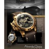 Promo Toko Alexandre Christie Ac 6339 Automatic Bronzium Limited Men Original