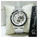 Review Alexandre Christie Ac 6452 Mc Chronograph Black Dial Black Stainless Steel Terbaru