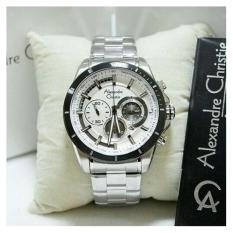 Review Toko Alexandre Christie Ac 6452 Mc Chronograph Black Dial Black Stainless Steel Online