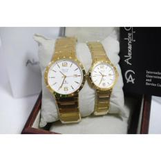 Alexandre Christie AC 8313 Couple Gold Original