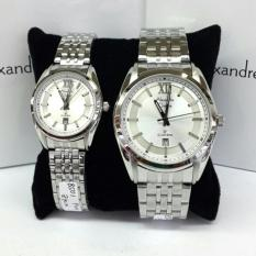 Promo Alexandre Christie Ac 8501 Jam Tangan Couple Stainless Steel Fashionable Alexandre Christie