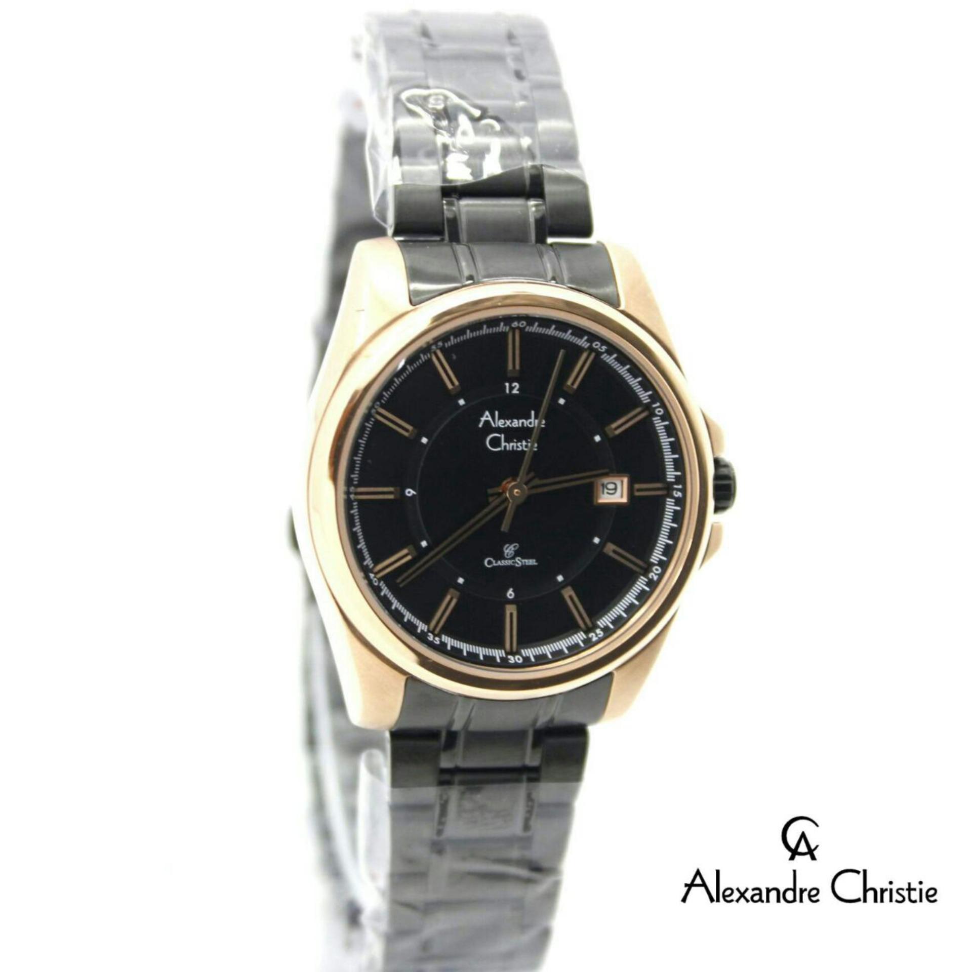 Alexandre Christie AC 8502 INDO - Jam Tangan Wanita - Stainless Steel TERBARU