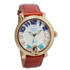 Spesifikasi Alexandre Christie Ac2391B Jam Tangan Wanita Kulit Merah Gold Dan Harganya