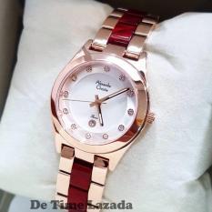 Spesifikasi Alexandre Christie Ac2477 Jam Tangan Wanita Stainless Ceramic Rose Gold Merah Dan Harganya