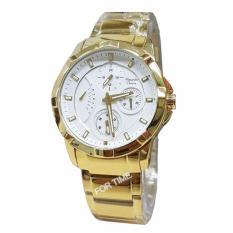Harga Alexandre Christie Ac2503Bf Jam Tangan Wanita Stainless Steel Gold Baru