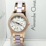 Harga Alexandre Christie Ac2608R Jam Tangan Wanita Stainless Ceramic Rose Gold Ungu Merk Alexandre Christie