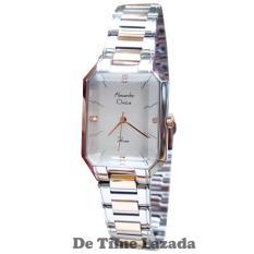Spesifikasi Alexandre Christie Ac2620L Jam Tangan Wanita Stainless Steel Silver Lis Gold Baru