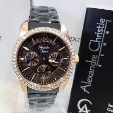 Alexandre Christie AC2645L Jam Tangan Wanita Stainless Steel Hitam Rosegold
