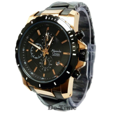 Alexandre Christie AC6141MR-C Jam Tangan Pria Stainless Steel Hitam Rose Gold