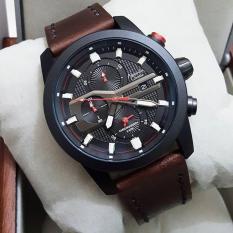 Jual Alexandre Christie Ac6270M Jam Tangan Pria Strap Leather Coklat Tua Hitam Dki Jakarta