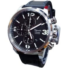 Toko Alexandre Christie Ac6280M C Jam Tangan Pria Strap Leather Hitam Silver Terlengkap