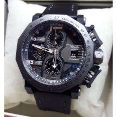 Alexandre Christie AC6373 Jam Tangan Pria Strap Leather Full Hitam
