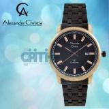 Harga Alexandre Christie Ac8511 Jam Tangan Pria Stainless Steel Black Rosegold Yang Bagus