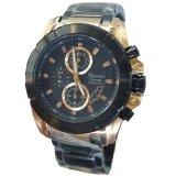 Promo Alexandre Christie Chronograph Ac6226 Jam Tangan Pria Stainless Steel Hitam Gold Akhir Tahun