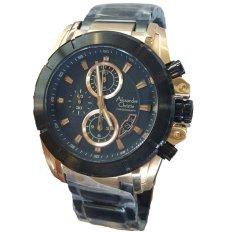 Spesifikasi Alexandre Christie Chronograph Ac6226 Jam Tangan Pria Stainless Steel Hitam Gold Yang Bagus Dan Murah