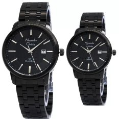 Jual Alexandre Christie Couple Watch Jam Tangan Couple Full Black Strap Stainless Steel Ac 8476Cfb Di Indonesia