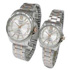 Promo Alexandre Christie Couple Watch Jam Tangan Couple Silver Gold Strap Stainless Steel Ac 8473Lmdbtrsl Di North Sumatra