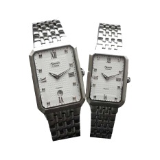 Jual Alexandre Christie Couple Watch Jam Tangan Couple Silver Strap Stainless Steel Ac 8392Css Alexandre Christie Murah