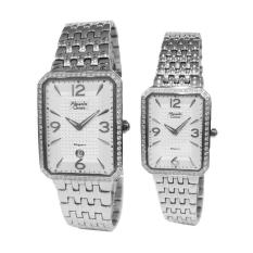 Alexandre Christie Elegance Couple Series 8391LMDBSSSLDR Silver Jam Tangan Pasangan