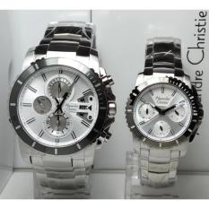 Alexandre Christie Jam Tangan Couple Alexandre Christie AC6455MC/BF Silver Stainless Steel Dial White