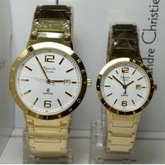 Alexandre Christie Jam Tangan Couple Alexandre Christie AC8313MD/LD Sapphire Gold Stainless Steel