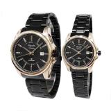 Jual Alexandre Christie Jam Tangan Couple Black Rose Gold Stainless Steel Ac 8502Lmdbbrba Baru