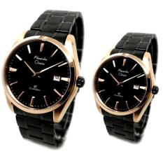 Pusat Jual Beli Alexandre Christie Jam Tangan Couple Hitam Strap Stainless Steel 8515 Indonesia