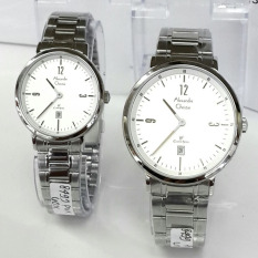 Alexandre Christie -  Jam Tangan Couple - Stainless Steel - AC 8499 Silver White Couple