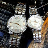Promo Alexandre Christie Jam Tangan Couple Stainless Steel Ac 8511 Silver White Couple Murah