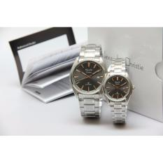 Alexandre Christie - Jam Tangan Couple - White or Black - Stainless Steel Strap - AC8500 - Limited Edition
