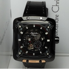 Promo Alexandre Christie Jam Tangan Pria Alexandre Christie Ac3030Ma Automatic Black Stainless Steel Leather Black Di Indonesia