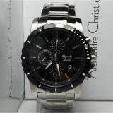 Spesifikasi Alexandre Christie Jam Tangan Pria Alexandre Christie Ac6141Mc Chronograph Silver Stainless Steel Dial Black Baru