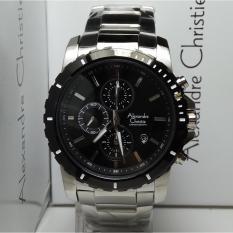 Diskon Alexandre Christie Jam Tangan Pria Alexandre Christie Ac6141Mc Chronograph Silver Stainless Steel Dial Black Alexandre Christie