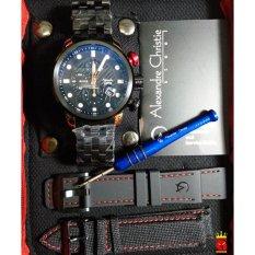 Toko Alexandre Christie Jam Tangan Pria Alexandre Christie Ac6163Mc Chronograph Black Rosegold Stainless Steel Lengkap