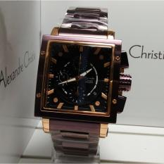 Katalog Alexandre Christie Jam Tangan Pria Alexandre Christie Ac6182Mc Chronograph Purple Rosegold Stainless Steel Terbaru