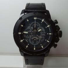 Jual Alexandre Christie Jam Tangan Pria Alexandre Christie Ac6416Mc Chronograph Black Stainless Steel Leather Black