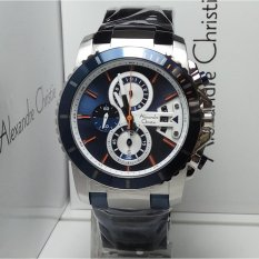 Obral Alexandre Christie Jam Tangan Pria Alexandre Christie Ac6455Mc Chronograph Silver Blue Stainless Steel Murah