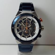 Alexandre Christie Jam Tangan Pria Alexandre Christie AC6461MC Chronograph Silver Blue Stainless Steel