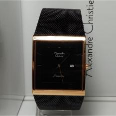 Harga Alexandre Christie Jam Tangan Pria Alexandre Christie Ac8333Md Tranquility Black Rosegold Stainless Steel Yang Murah