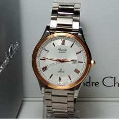 Alexandre Christie Jam Tangan Pria Alexandre Christie  AC8387MD Sapphire Silver Stainless Steel List Rosegold