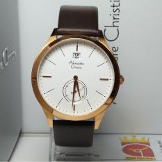 Toko Alexandre Christie Jam Tangan Pria Alexandre Christie Ac8440Ms Classic Rosegold Stainless Steel Leather Brown Indonesia