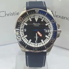 Alexandre Christie - Jam Tangan Pria- Navy- Tali Kanvas - AC6435
