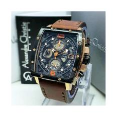 Alexandre Christie - Jam Tangan Sport Formal Fashion Kasual Original Alexandre Christie Pria Cowok Laki Laki Model Terbaru Termurah Terlaris 2017 Kekinian Simple Keren Elegan Analog Kulit Sstainless Steel Alexandre Christie AC6376 Rose Gold