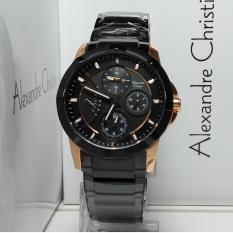Alexandre Christie Jam Tangan Wanita Alexandre Christie AC2503BF Multifunction Black Rosegold Stain