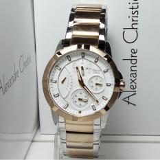 Alexandre Christie Jam Tangan Wanita Alexandre Christie AC2503BF Multifunction Silver Light Gold St